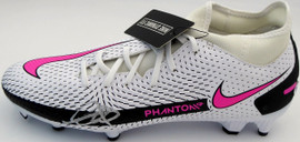 Mason Mount Autographed White & Pink Nike Phantom Cleat Shoe Chelsea F.C. Size 9.5 Beckett BAS #K06426