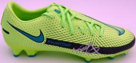 Mason Mount Autographed Green Nike Phantom Cleat Shoe Chelsea F.C. Size 8 Beckett BAS #K06448
