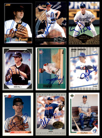 Autographed Baseball Cards Assorted Lot of 100 All Different Players SKU #196564