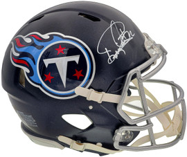 Derrick Henry Autographed Tennessee Titans Blue Full Size Authentic Speed Helmet Beckett BAS QR Stock #196615