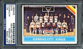 Phil Johnson Autographed 1975 Topps Card #211 Kansas City Kings PSA/DNA #83456871