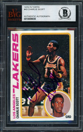 Charlie Scott Autographed 1978-79 Topps Card #43 Los Angeles Lakers Beckett BAS #10009039