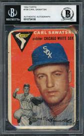 Carl Sawatski Autographed 1957 Topps Card #198 Chicago White Sox Beckett BAS #10734106
