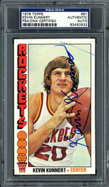 Kevin Kunnert Autographed 1976 Topps Card #91 Houston Rockets PSA/DNA #83450932