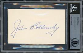 Jim Bottomley Autographed 3x5 Index Card St. Louis Cardinals Auto Grade Gem Mint 10 Beckett BAS #13264803