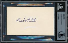 Babe Ruth Autographed 3x5 Index Card New York Yankees Auto Grade Gem Mint 10 Pristine Beckett BAS #13264811