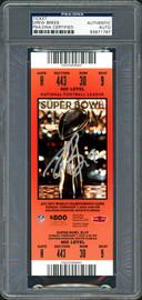 Drew Brees Autographed Super Bowl XLIV Ticket New Orleans Saints PSA/DNA #83971797