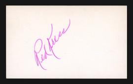 Red Kress Autographed 3x5 Index Card St. Louis Browns PSA/DNA #L73798