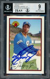 Ken Griffey Jr. Autographed 1989 Bowman Tiffany Rookie Card #220 Seattle Mariners BGS 9 Auto Grade Mint 9 Beckett BAS #13239080
