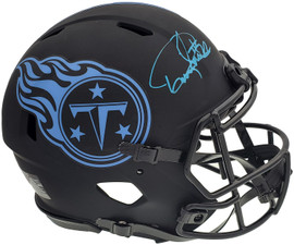Derrick Henry Autographed Tennessee Titans Eclipse Black Full Size Authentic Speed Helmet Beckett BAS QR Stock #196808