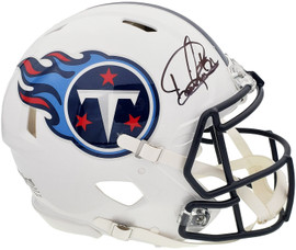 Derrick Henry Autographed Tennessee Titans White Full Size Authentic Speed Helmet Beckett BAS QR Stock #196809