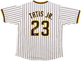 San Diego Padres Fernando Tatis Jr. Autographed White Jersey Beckett BAS Stock #196981