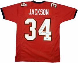 "Tampa Bay Buccaneers Dexter Jackson Autographed Red Jersey ""SB XXXVII"" Beckett BAS Stock #197008"