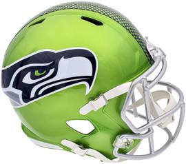 Seattle Seahawks Unsigned Green Flash Alternate Full Size Speed Replica Helmet Stock #197053