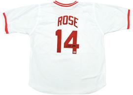 Cincinnati Reds Pete Rose Autographed White Jersey PR Holo Stock #197040