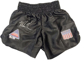 Mike Tyson Autographed Black Boxing Trunks Beckett BAS Stock #197057