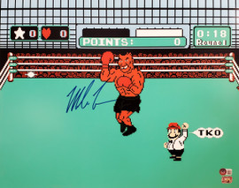 Mike Tyson Autographed 16x20 Photo Punch-Out Beckett BAS Stock #197062