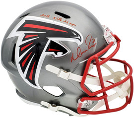 "Matt Ryan Autographed Atlanta Falcons Flash Silver Full Size Replica Speed Helmet ""2016 NFL MVP"" Beckett BAS QR Stock #197075"