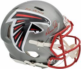 "Matt Ryan Autographed Atlanta Falcons Flash Silver Full Size Authentic Speed Helmet ""2016 NFL MVP"" Beckett BAS QR Stock #197076"
