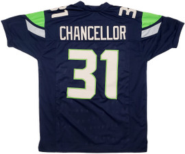 Unsigned Seattle Seahawks Blue Jersey to be signed by Kam Chancellor Saturday September 25th Starting at 4:30 PM **Requires Autograph Ticket To Be Signed**