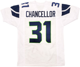 Unsigned Seattle Seahawks White Jersey to be signed by Kam Chancellor Saturday September 25th Starting at 4:30 PM **Requires Autograph Ticket To Be Signed**