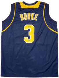 Michigan Wolverines Trey Burke Autographed Blue Jersey PSA/DNA Stock #197116