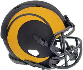 Unsigned Los Angeles Rams Eclipse Black Speed Mini Helmet Stock #197126