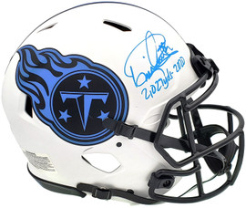 """Derrick Henry Autographed Tennessee Titans Lunar Eclipse White Full Size Authentic Speed Helmet """"2027 Yds-2020"""" Beckett BAS QR Stock #197129"""