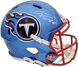 Ryan Tannehill Autographed Tennessee Titans Flash Blue Full Size Replica Speed Helmet Beckett BAS QR Stock #197140