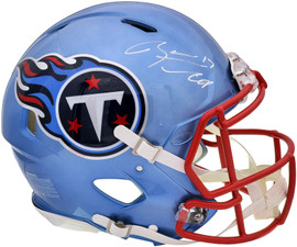 Ryan Tannehill Autographed Tennessee Titans Flash Blue Full Size Authentic Speed Helmet Beckett BAS QR Stock #197141