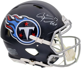 Ryan Tannehill Autographed Tennessee Titans Blue Full Size Authentic Speed Helmet Beckett BAS QR Stock #197142