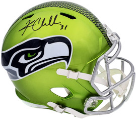 Kam Chancellor Autographed Seattle Seahawks Flash Green Full Size Replica Speed Helmet MCS Holo Stock #197181