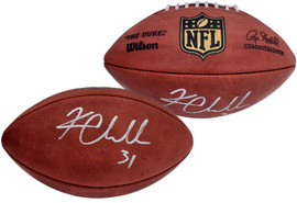 Kam Chancellor Autographed Official NFL Leather Football Seattle Seahawks MCS Holo Stock #197188