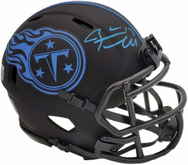 Ryan Tannehill Autographed Tennessee Titans Eclipse Black Speed Mini Helmet Beckett BAS QR Stock #197222