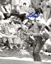 Lee Elder Autographed 8x10 Photo Sand Shot MCS Holo Stock #197231