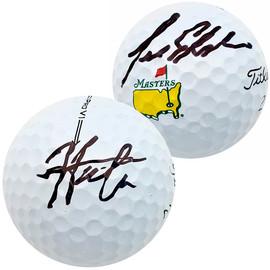 Hideki Matsuyama & Lee Elder Autographed Titleist Masters Logo Golf Ball Beckett BAS QR Stock #197453