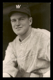 Joe Cronin Autographed 3.5x5.5 Postcard Washington Senators SKU #197499