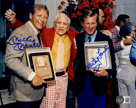 Mickey Mantle & Whitey Ford Autographed 8x10 Photo New York Yankees Beckett BAS #AB08892