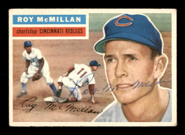 Roy McMillan Autographed 1956 Topps Card #123 Cincinnati Reds SKU #198404