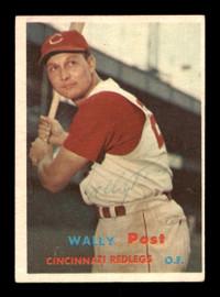 Wally Post Autographed 1957 Topps Card #157 Cincinnati Reds SKU #198443