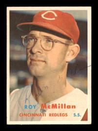 Roy McMillan Autographed 1957 Topps Card #69 Cincinnati Reds SKU #198481