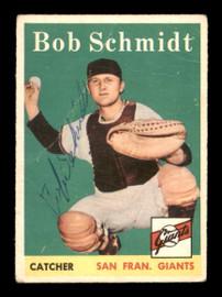 Bob Schmidt Autographed 1958 Topps Card #468 San Francisco Giants SKU #198639