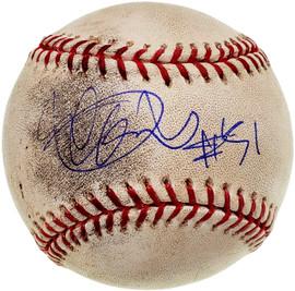 "Ichiro Suzuki Autographed Official Game Used MLB Baseball Seattle Mariners ""#51"" IS Holo SKU #199001"