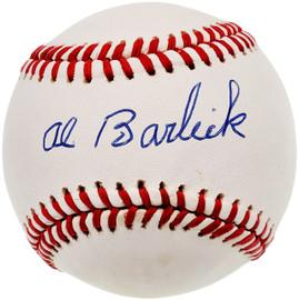 Al Barlick Autographed Official NL Baseball Umpire Beckett BAS #X12448