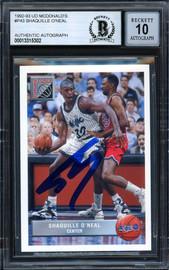 "Shaquille ""Shaq"" O'Neal Autographed 1992-93 Upper Deck McDonald's Rookie Card #P43 Orlando Magic Auto Grade Gem Mint 10 Beckett BAS #13315302"