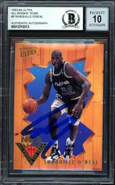 "Shaquille ""Shaq"" O'Neal Autographed 1993-94 Fleer Ultra All Rookie Card #5 Orlando Magic Auto Grade Gem Mint 10 Beckett BAS #13315313"