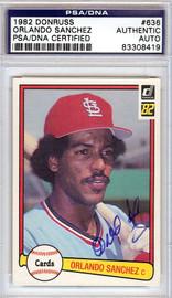 Orlando Sanchez Autographed 1982 Donruss Card #636 St. Louis Cardinals PSA/DNA #83308419