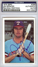 Jim Spencer Autographed 1975 SSPC Card #268 Texas Rangers PSA/DNA #83310560