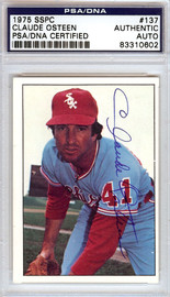 Claude Osteen Autographed 1975 SSPC Card #137 Chicago White Sox PSA/DNA #83310602