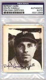 Dolph Camilli Autographed TCMA Reprint Card Philadelphia Phillies PSA/DNA #83312956